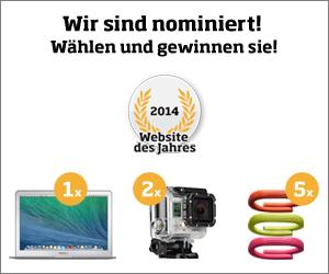 Nominiert für die Wahl zur Website des Jahres 2014